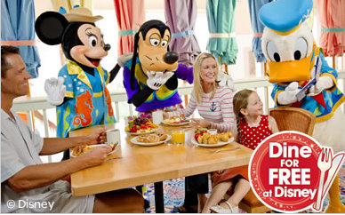 News 2014 disney world free dining packages for united How to get free dining at disney