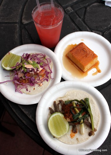 Menu Items From the Mexico Booth