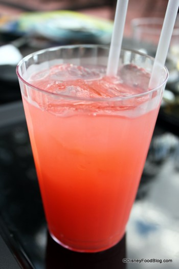 Strawberry Margarita on the Rocks