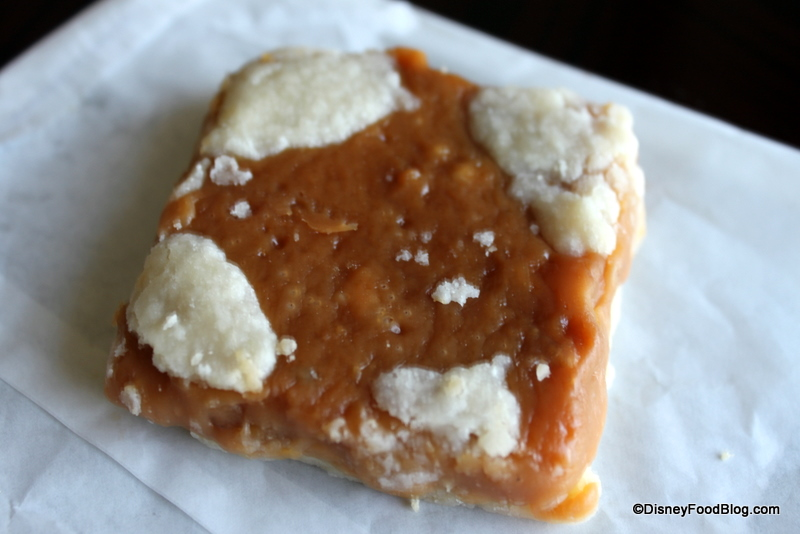 Disney recipe werther s chewy caramel shortbread bars from epcot