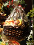 A Wrapped Up Fruit Basket Ready to Go