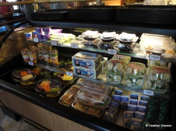 Self Serve Refridgerated Case: Salads, Sandwhiches, Fruit, Desserts, etc.
