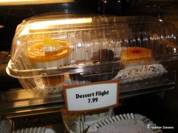 Dessert Trio: Tropical Parfait, Mickey Chocolate Brownie & Pineapple Upside Down Cake