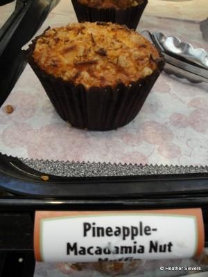 Pineapple Macadamia Nut Muffin