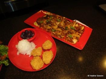 Kalua Pork Flatbreat and Kid's Chicken Nuggets