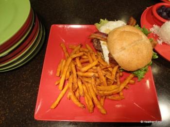 1/3 Pound Angus Hawaiian Cheeseburger with Sweet Potato Fries