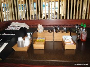 Condiments, Silverware, & Napkins