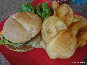 1/3 Pound Angus Cheeseburger with Chips