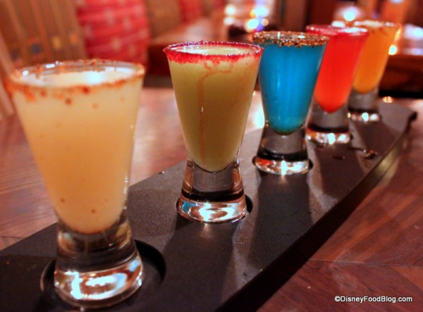 Margarita Flight at La Cava del Tequila