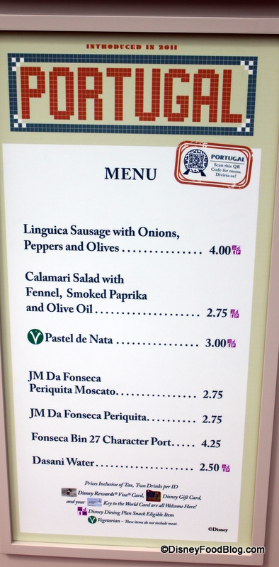 Lisboa Restaurant Menu