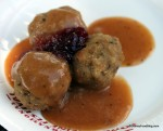 Swedish Meatballs with Lingon Berries