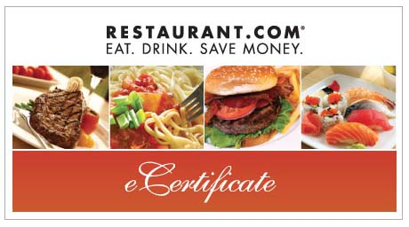 gift certificate deals restaurants