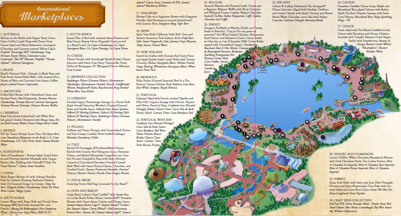 2011 epcot food and wine festival map | the disney food blog