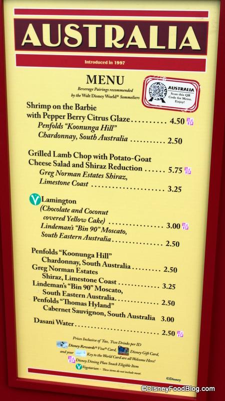 Disney Food And Wine Menu
