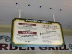 Paradise Garden Grill Menu Board #2