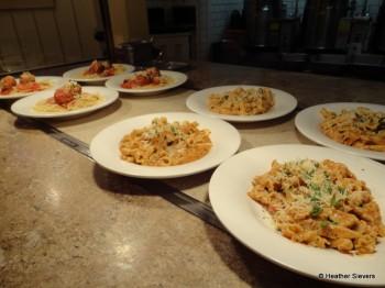 Sun Dried Tomato Pasta & Spaghetti with Meatballs