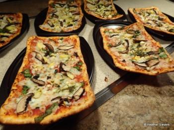 Portabello Mushroom & Spinach Flatbread Pizza