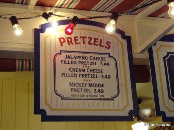 Bayside Brews Pretzel Menu