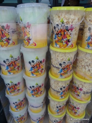Buckets of Cotton Candy & Popcorn