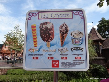Ice Cream Stand Menu