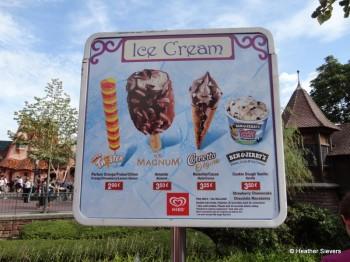 Ice Cream Stand Menu