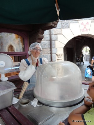 Cotton Candy in the Making (this super cute cast member wanted to remove her mask for the photo)