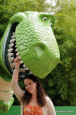 Visiting Rex at Toy Story Playland
