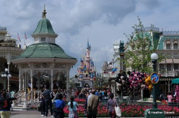 View of the Castle from Main Street USA, Paris