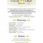 Walt Disney World Chefs at Edible Orlando's Field to Feast Dinner