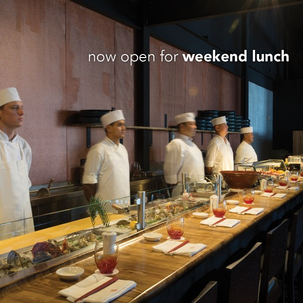 Morimoto Asia's sushi bar is now open for lunch