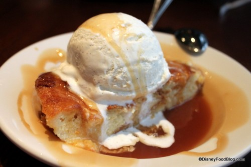 'Ohana Bread Pudding with Caramel Sauce
