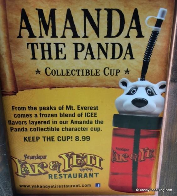Amanda the Panda Souvenir Cup