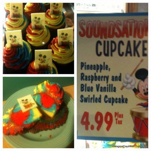 New Soundsational Cupcake In Disneyland The Disney Food Blog