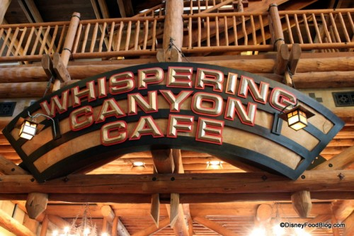 Whispering Canyon Sign