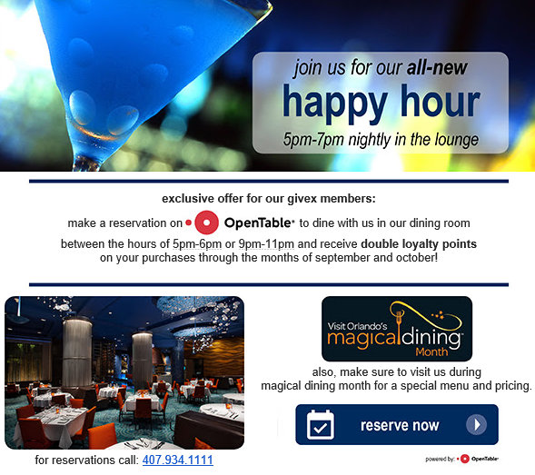 Stop by Happy Hour!