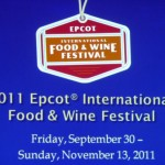 2011 Epcot Food and Wine Festival Preview Dinner Details