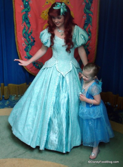 Ariel meets guests at entrance