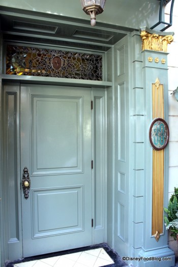 The old Club 33  entrance at Disneyland