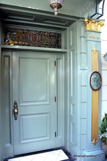 The old Club 33  entrance at Disneyland