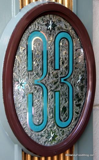 Club 33 Sign