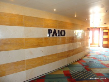 Palo is an Adult Exclusive Restaurant Located on Deck 10 Aft