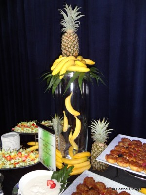 "Loved this ""floating"" banana display!"