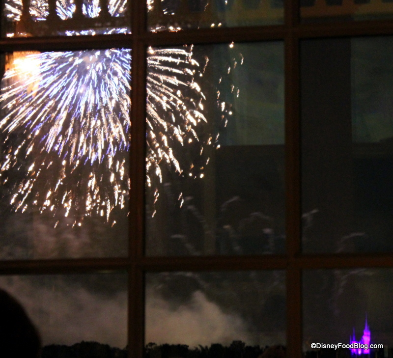 Fireworks and castle from Narcoossees