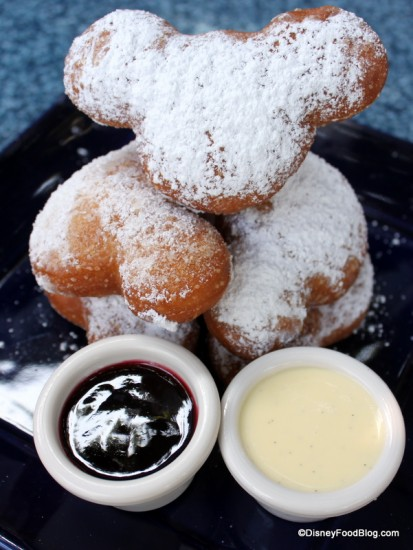 Mickey Beignets with Sauces