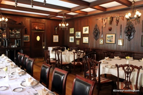 Trophy Room in Disneyland's Club 33