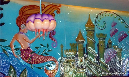 Undersea Mosaic Mural at Ariel's Grotto