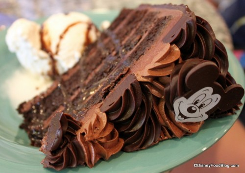 Chocolate Cake in Disney World