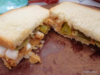 The Peanut Butter Pickle Marshmallow Sandwich...