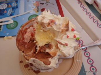 Tackling the Matterhorn Sundae is not an easy task.