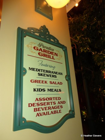 """""""Teaser"""" Sign Upon Entrance to the Paradise Pier Dining Area"""